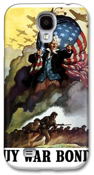 Uncle Sam - Buy War Bonds Galaxy S4 Case by War Is Hell Store