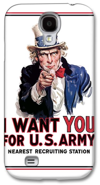 Uncle Sam -- I Want You Galaxy S4 Case by War Is Hell Store