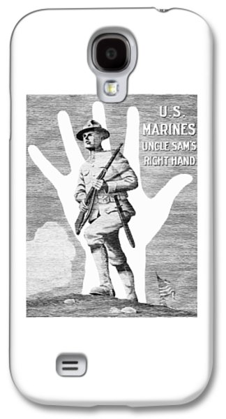Uncle Sam's Right Hand - Us Marines Galaxy S4 Case by War Is Hell Store