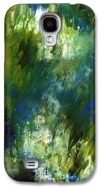 Under The Canopy- Abstract Art By Linda Woods Galaxy S4 Case by Linda Woods