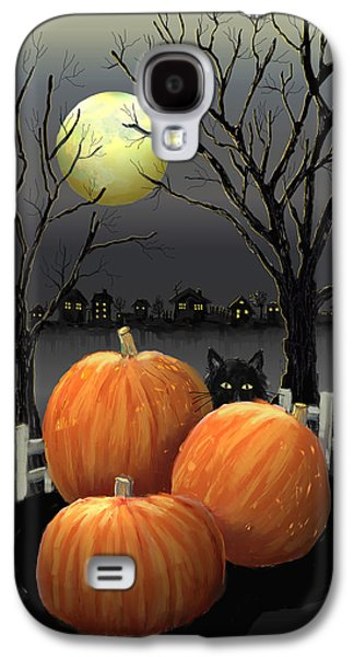 Halloween Digital Galaxy S4 Cases - Under The Full Moon Galaxy S4 Case by Arline Wagner