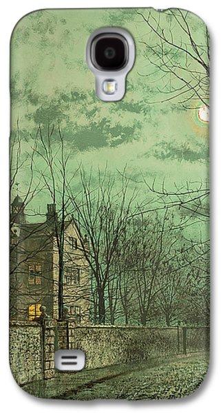 Under The Moonbeams Galaxy S4 Case by John Atkinson Grimshaw