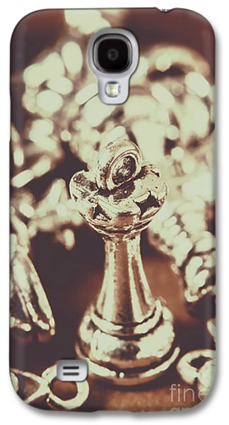 Stainless Steel Galaxy S4 Case - Unfallen Tower Of The Chess Game by Jorgo Photography - Wall Art Gallery