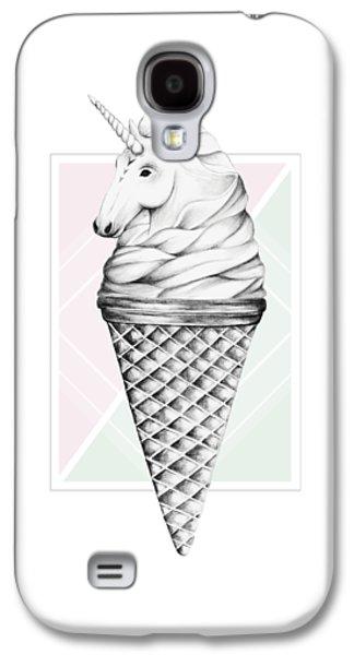 Unicorn Galaxy S4 Case - Unicone by Barlena