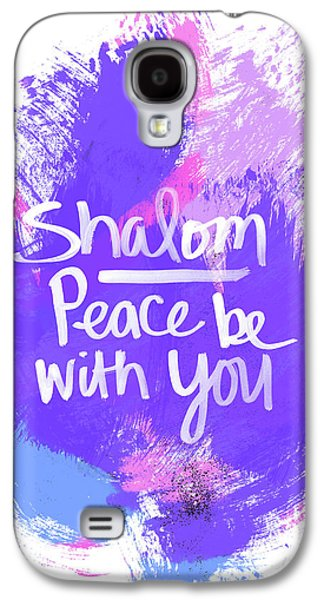 Unicorn Colors Shalom- Art By Linda Woods Galaxy S4 Case by Linda Woods