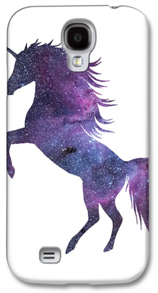 Unicorn In Space-transparent Background Galaxy S4 Case
