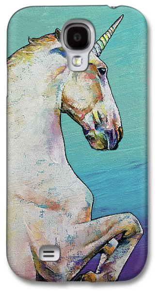 Unicorn Galaxy S4 Case by Michael Creese