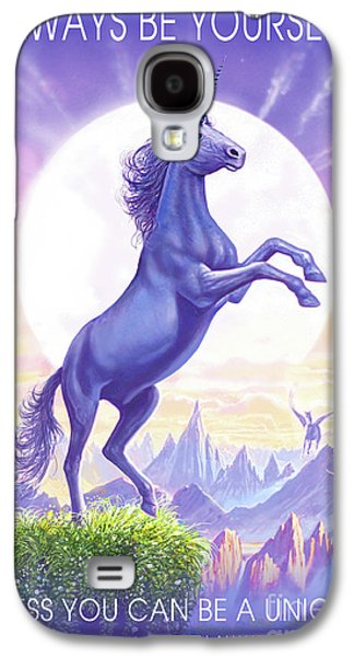 Unicorn Moon Ravens Galaxy S4 Case by Steve Crisp