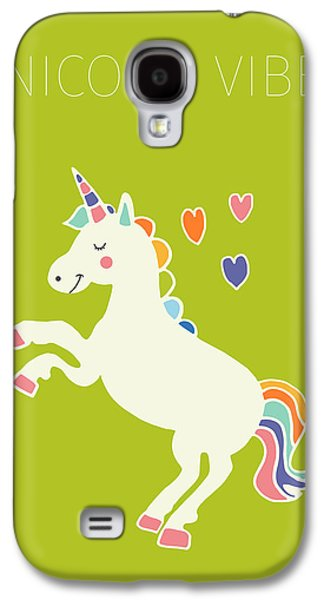 Unicorn Vibes Galaxy S4 Case by Nicole Wilson