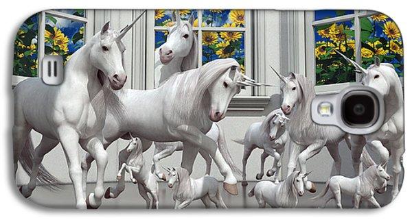 Unicorns Galaxy S4 Case by Betsy Knapp