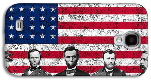 Leader Galaxy S4 Cases - Union Heroes and The American Flag Galaxy S4 Case by War Is Hell Store