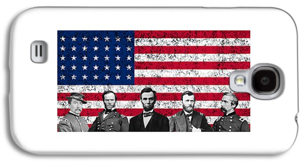 Union Heroes And The American Flag Galaxy S4 Case by War Is Hell Store