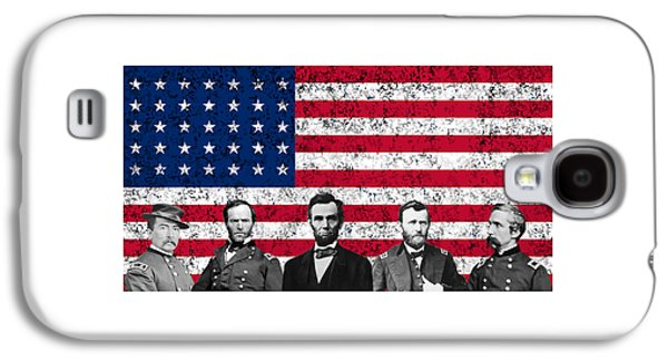Army Mixed Media Galaxy S4 Cases - Union Heroes and The American Flag Galaxy S4 Case by War Is Hell Store
