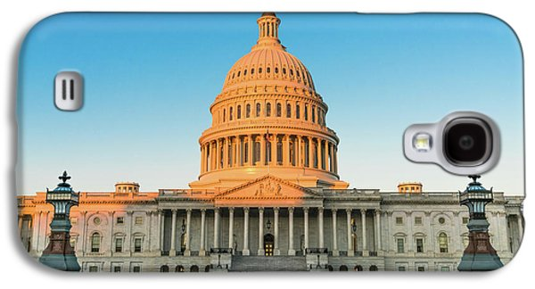 Lincoln Memorial Galaxy S4 Case - United States Capitol  by Larry Marshall