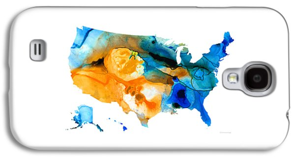 United States Map - America Map 9 - By Sharon Cummings Galaxy S4 Case by Sharon Cummings