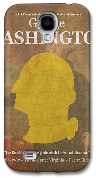 United States Of America President George Washington Facts And Portrait Poster Series Number 1 Galaxy S4 Case