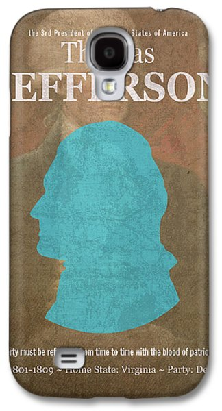 United States Of America President Thomas Jefferson Facts Portrait And Quote Poster Series Number 3 Galaxy S4 Case