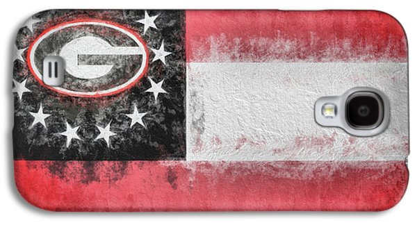 Galaxy S4 Case featuring the digital art University Of Georgia State Flag by JC Findley