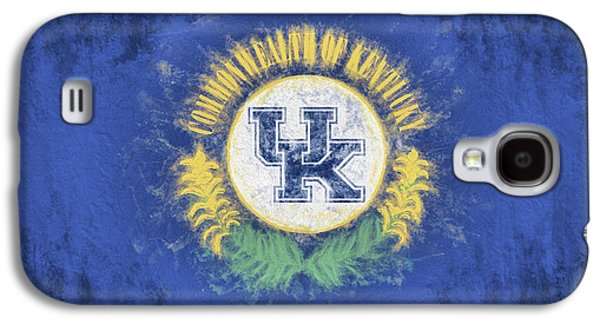 Galaxy S4 Case featuring the digital art University Of Kentucky State Flag by JC Findley