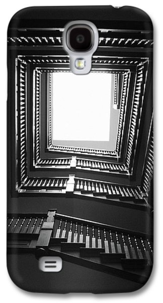 Upstairs- Black And White Photography By Linda Woods Galaxy S4 Case by Linda Woods