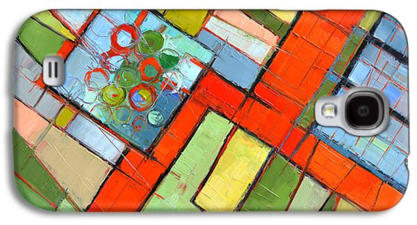 Urban Composition - Abstract Zoning Plan Galaxy S4 Case by Mona Edulesco
