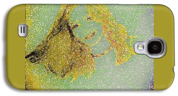 Urban Street Art Sketch Girl Galaxy S4 Case