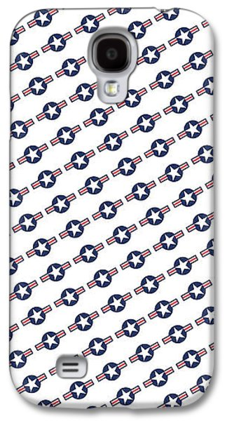 Us Airforce Style Insignia Pattern Diag Version Galaxy S4 Case