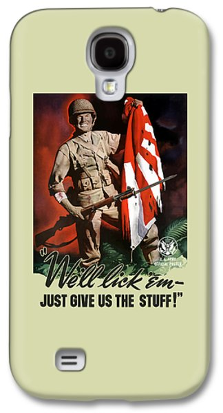 Us Army -- World War Two Propaganda Galaxy S4 Case by War Is Hell Store