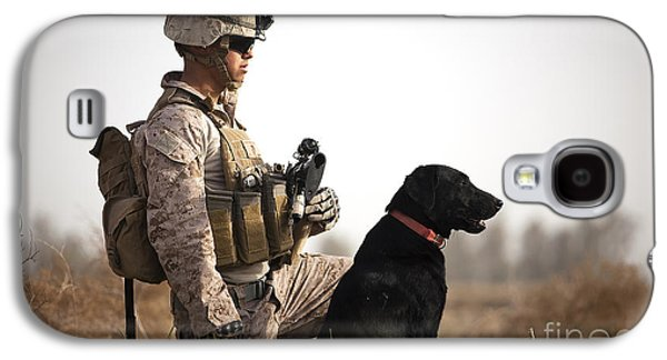 U.s. Marine Holds Security In A Field Galaxy S4 Case by Stocktrek Images