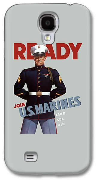 Us Marines - Ready Galaxy S4 Case by War Is Hell Store