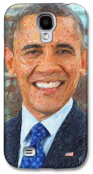 U.s. President Barack Obama Galaxy S4 Case by Celestial Images