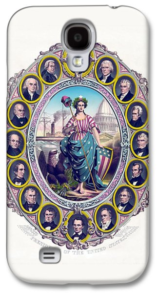 Us Presidents And Lady Liberty  Galaxy S4 Case by War Is Hell Store