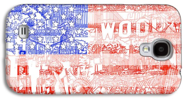 Usa Flag 1 Galaxy S4 Case by Bekim Art