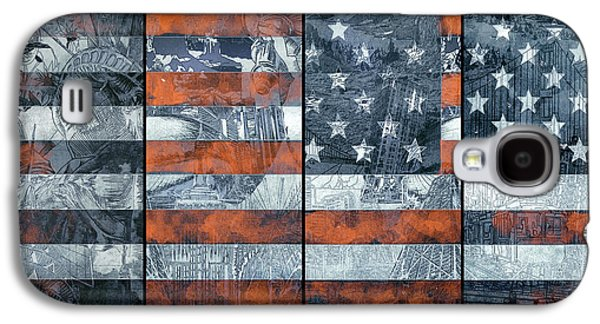 Usa Flag 12 Galaxy S4 Case by Bekim Art