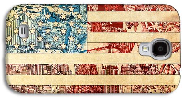 July 4 Galaxy S4 Case - Usa Flag 2 by Bekim Art