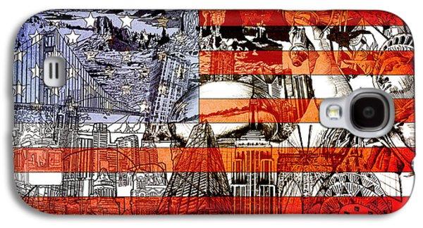 July 4 Galaxy S4 Case - Usa Flag 3 by Bekim Art