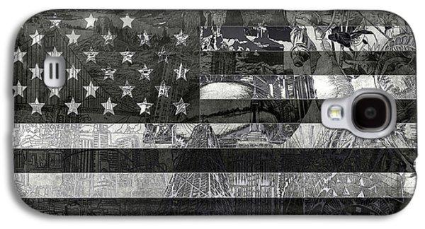 July 4 Galaxy S4 Case - Usa Flag 4 by Bekim Art