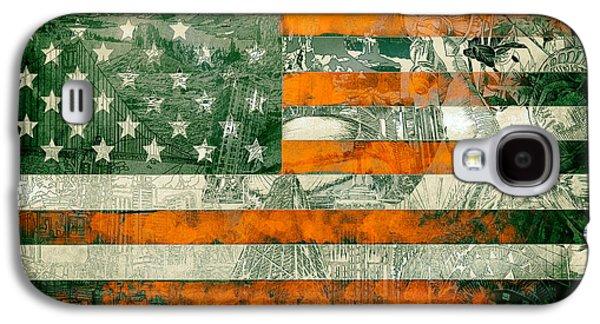 July 4 Galaxy S4 Case - Usa Flag 5 by Bekim Art