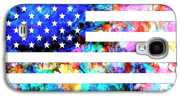 July 4 Galaxy S4 Case - Usa Flag 6 by Bekim Art