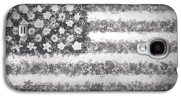 Usa Flag Floral 2 Galaxy S4 Case by Bekim Art