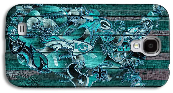 Usa Nfl Map Collage 3 Galaxy S4 Case