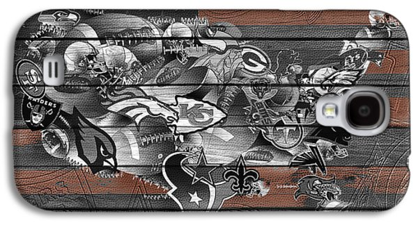 Usa Nfl Map Collage 4 Galaxy S4 Case