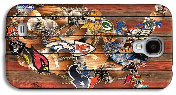 Usa Nfl Map Collage 6 Galaxy S4 Case by Bekim Art