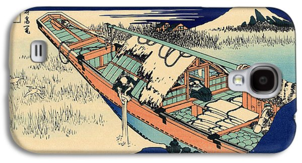 Ushibori In The Hitachi Province Galaxy S4 Case by Hokusai