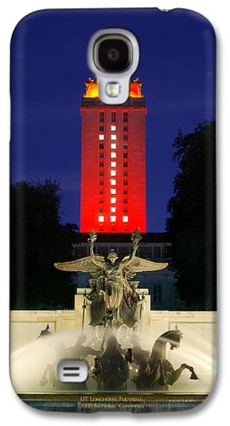 Ut Austin Tower Orange Galaxy S4 Case by Lisa  Spencer