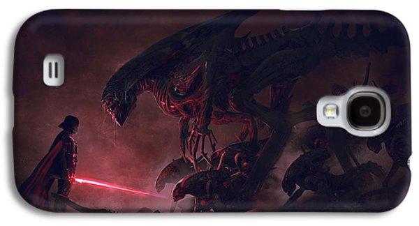 Vader Vs Aliens 4 Galaxy S4 Case