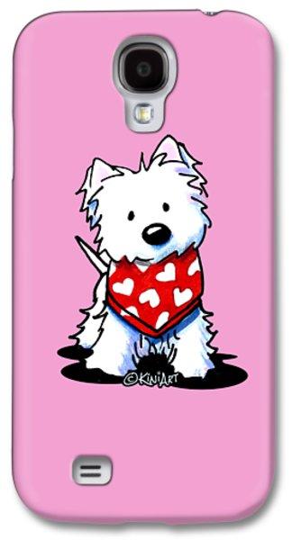 Valentine Westie Galaxy S4 Case by Kim Niles