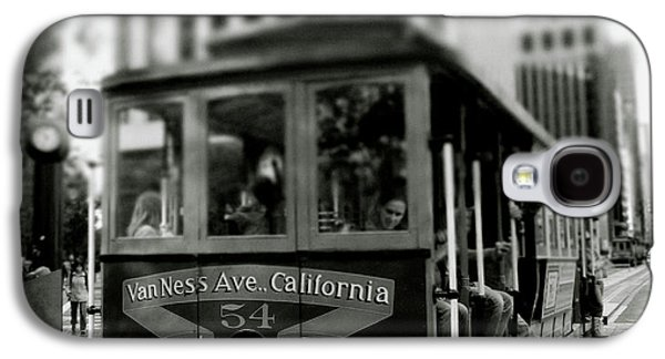 Van Ness And Market Cable Car- By Linda Woods Galaxy S4 Case by Linda Woods