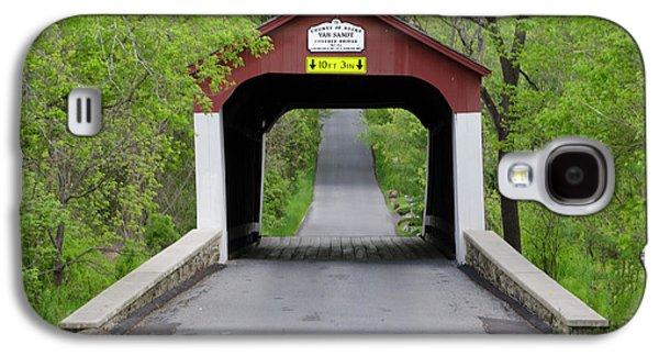 Van Sandt Covered Bridge - Bucks County Pa Galaxy S4 Case by Bill Cannon