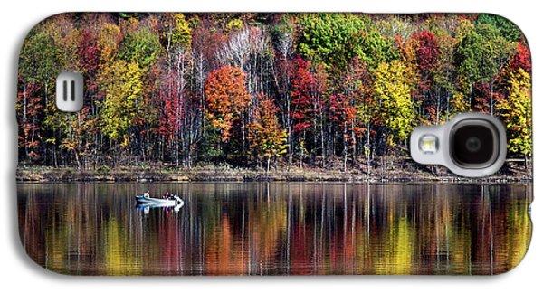 Vanishing Autumn Reflection Landscape Galaxy S4 Case by Christina Rollo